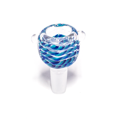 GLASS CONE - SQUARE - LIGHT & DARK BLUE SWIRLS - 14MM
