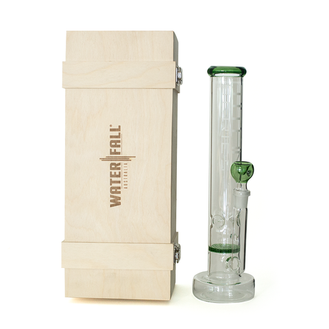 TITAN SERIES - HONEYCOMB ICE GLASS BONG - DELUXE WOODEN BOX EDITION