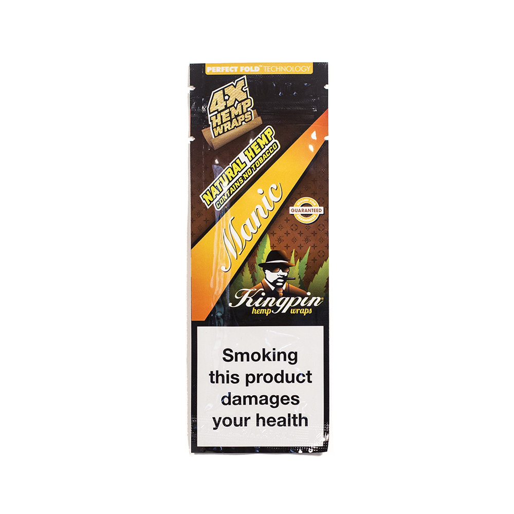 KINGPIN HEMP WRAP - MANIC 4x NO TOBACCO