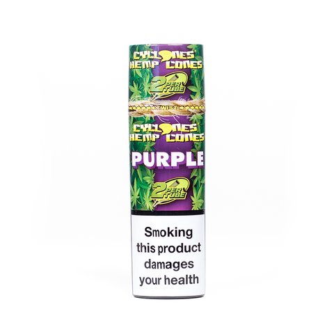 CYCLONES - HEMP CONES PURPLE X2