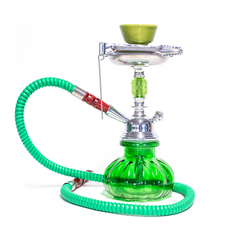 HOOKAH - 1 HOSE - PUMPKIN BASE GREEN