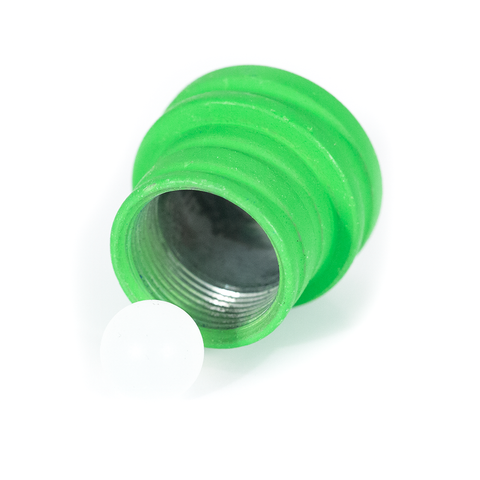 SPARE HOOKAH PLUG - LARGE - ZINC ALLOY - GREEN RED & BLUE