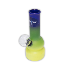 WATERFALL - PLAYFUL MINI BONG - FROSTED BLUE, GREEN & YELLOW