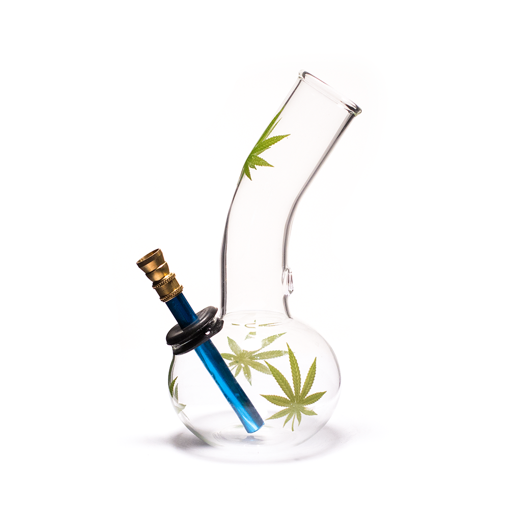WATERFALL - BONSAI WITH LEAF DECAL GLASS BONG