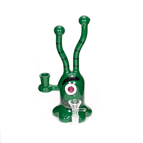 PLANET X - JOZE-A - ALIEN GLASS BONG - GREEN