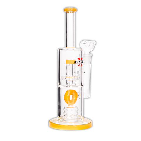 PLANET X - WORMHOLE - GLASS BONG - HONEY GOLD