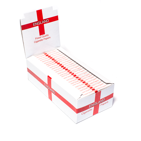 50 PACK (BOX) - PAPERS - ENGLAND REGULAR CIGARETTE
