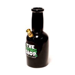 BEER BOTTLE BONG SHOP LABEL CERAMIC BONG - STD STEM