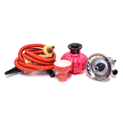 SMALL 2-HOSE HOOKAH - WATERMELON BASE - RED
