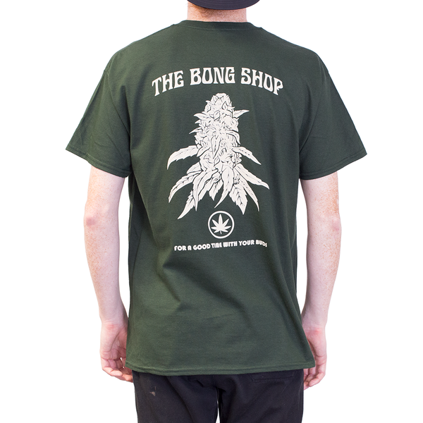 TSHIRT - THE BONG SHOP GOOD TIME BACK PRINT GREEN
