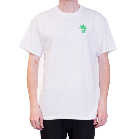 TSHIRT - THE BONG SHOP WIZARD BACK PRINT WHITE
