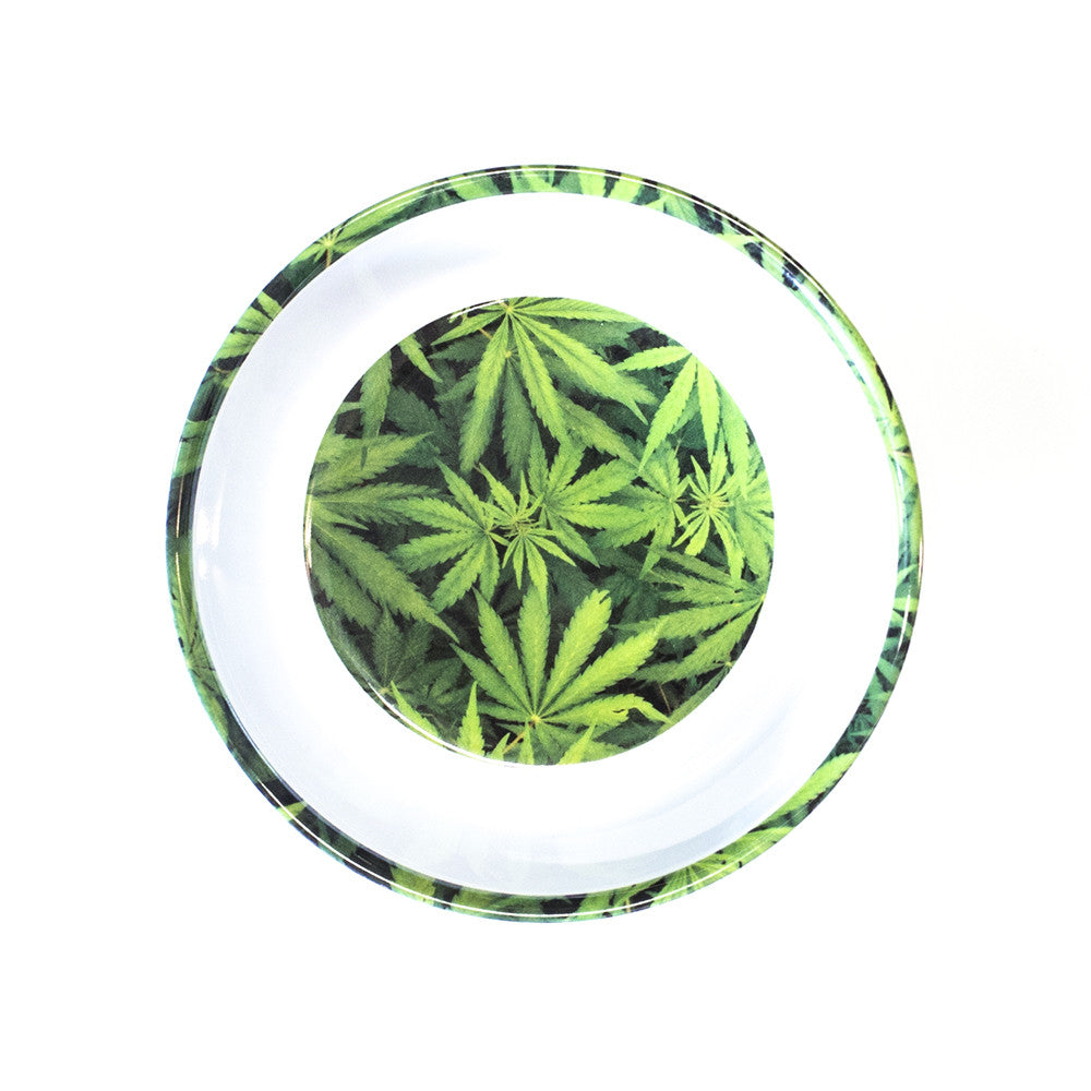 BOWL - MELAMINE GREEN MARIJUANA