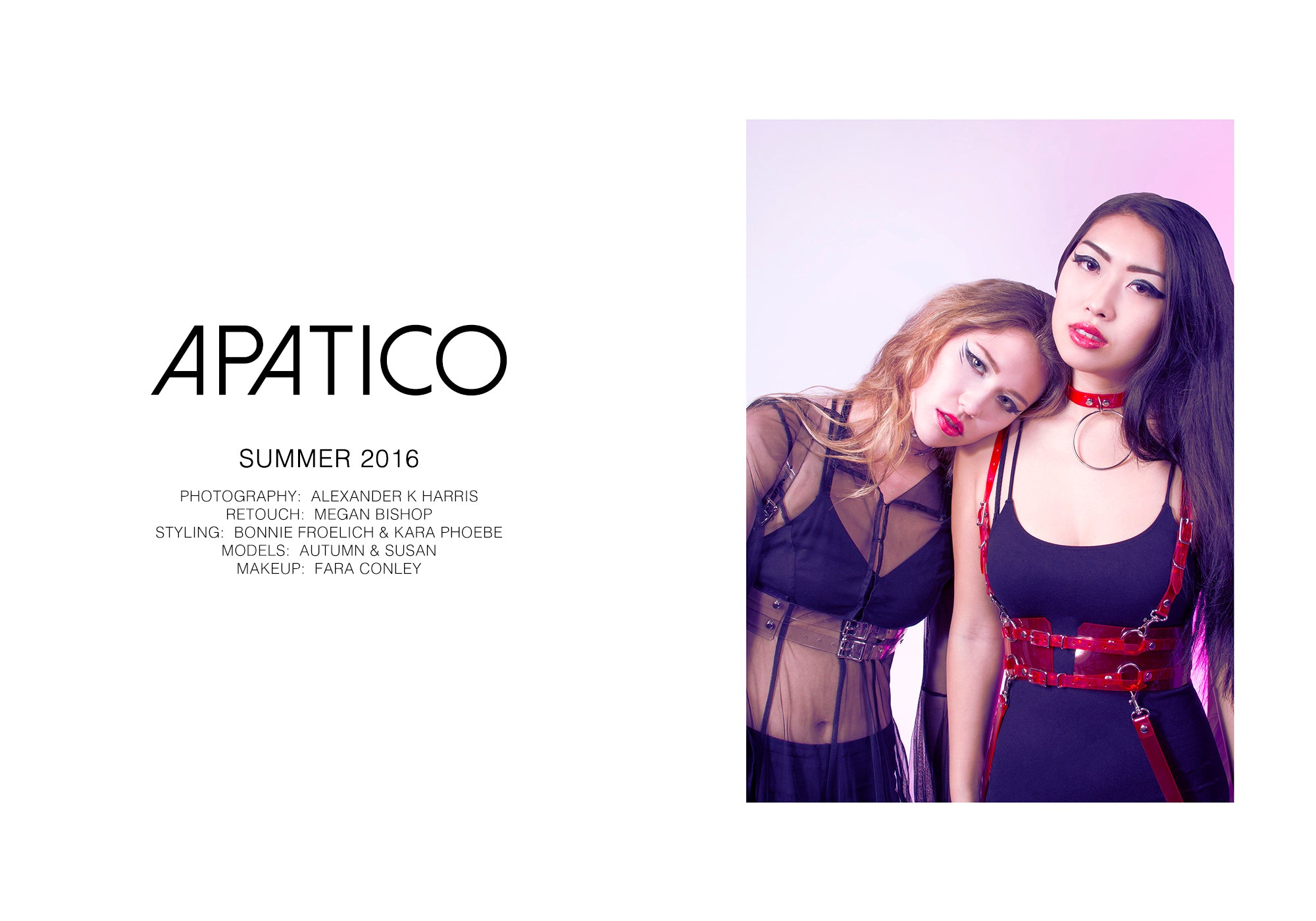 Apatico harness collection Summer 2016