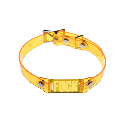 Fxxk Choker Transparent Yellow
