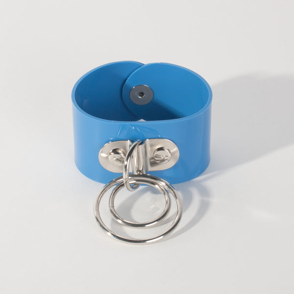 Blue Trouble O Ring Cuff Bracelet