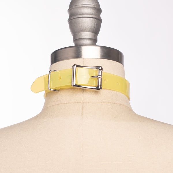 Yellow Oh Choker Collar