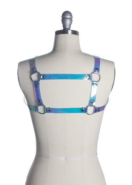 Cold Shoulder Holographic Harness
