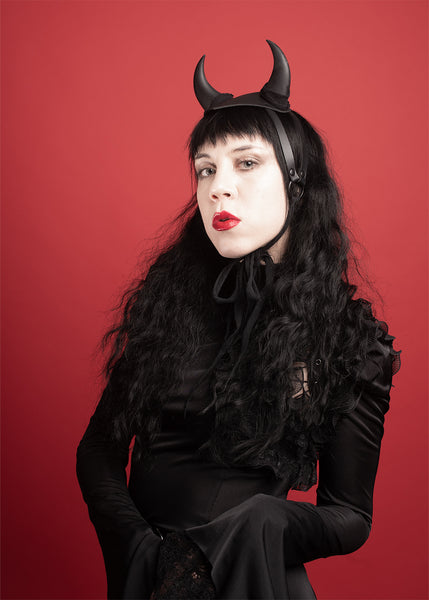 Devil Horns Harness Fascinator