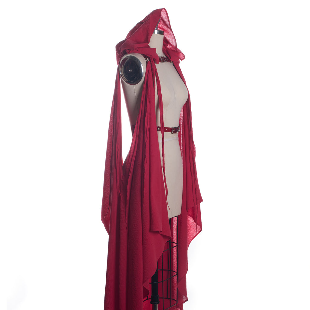 Red Draped Cape Harness