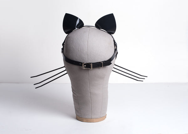 Harness Cat Ears & Whiskers Headpiece
