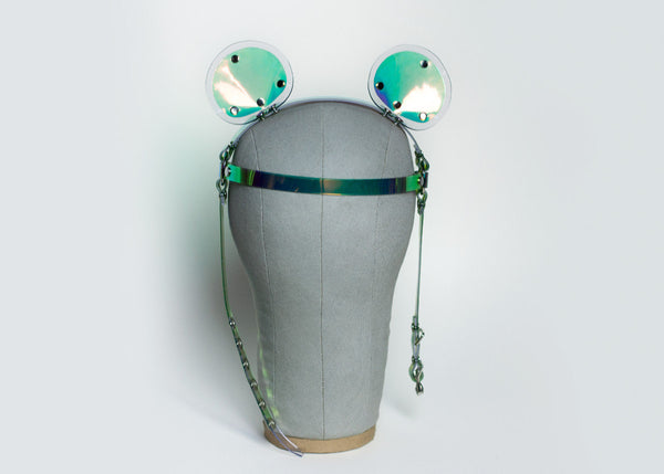 Holographic Bear Ears Headpiece