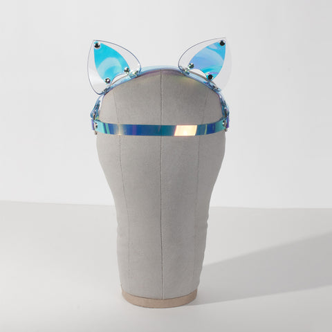 Holographic Cat Ears Headpiece