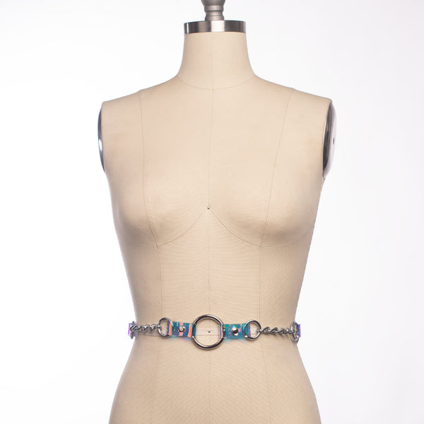Holographic Industrial Chained Waist Belt