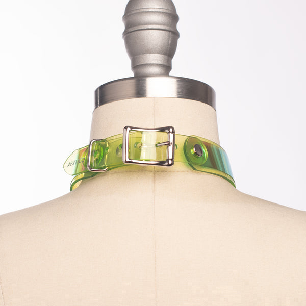Green Holographic O-Ring Choker Collar