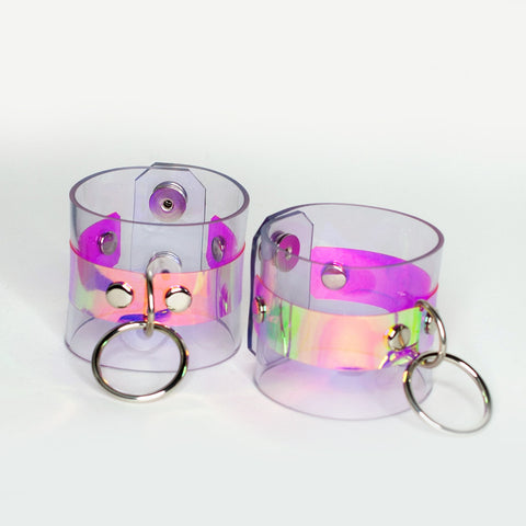 Holographic O Ring Cuff Bracelet