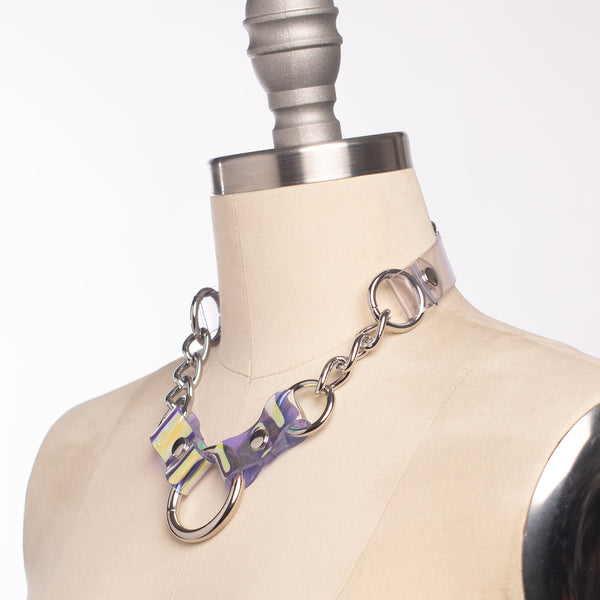Holographic Industrial Chained Necklace