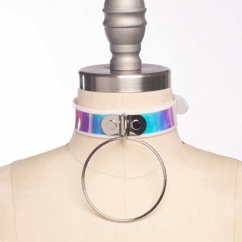 Opalescent O Ring Choker Collar