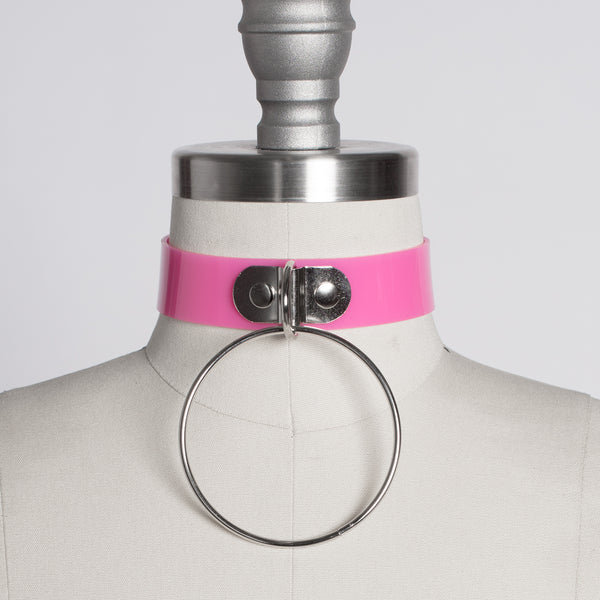 Pink O-Ring Choker Collar