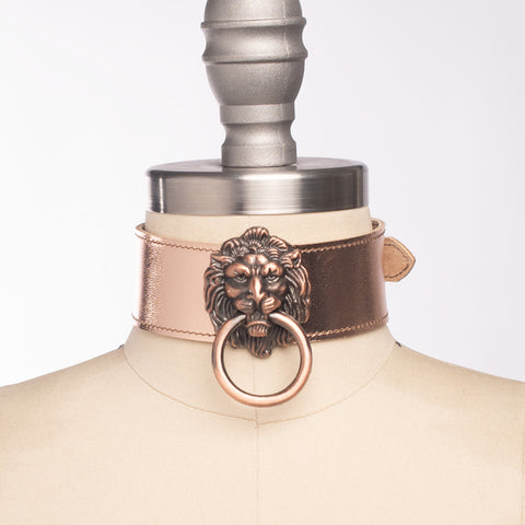 Metallic Leo Lion Choker Collar