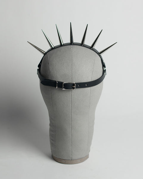 Lucrezia spiked harness headpiece - gothic sunburst crown - leather or pvc