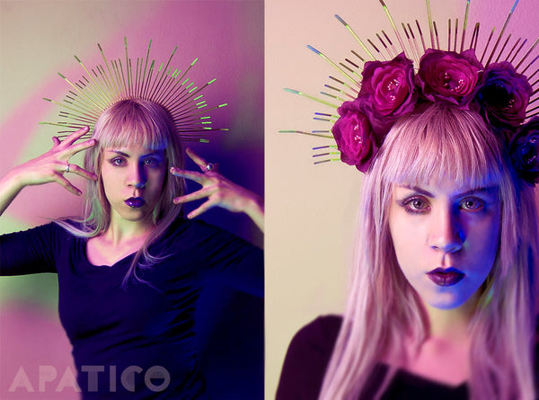 MARY HALO CROWN HEADPIECE - APATICO - 4