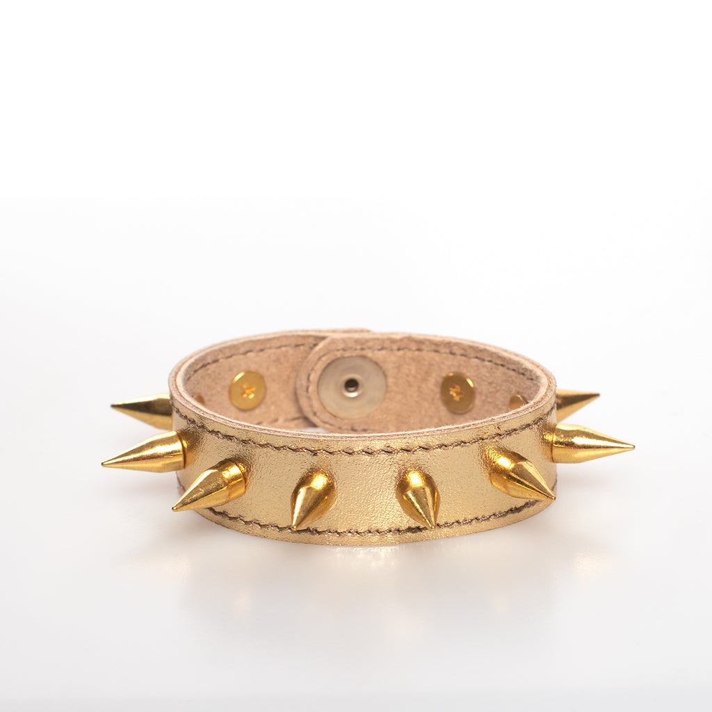 Metallic Spiked Bangle Bracelet