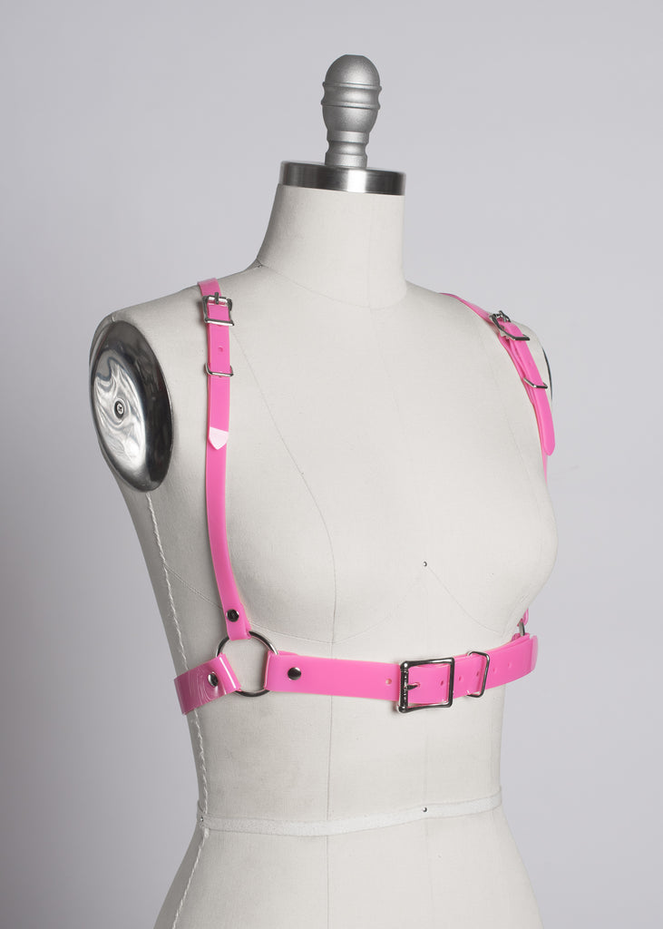 db58771a57f31 Apatico - Pink Pvc Harness - Pastelgoth
