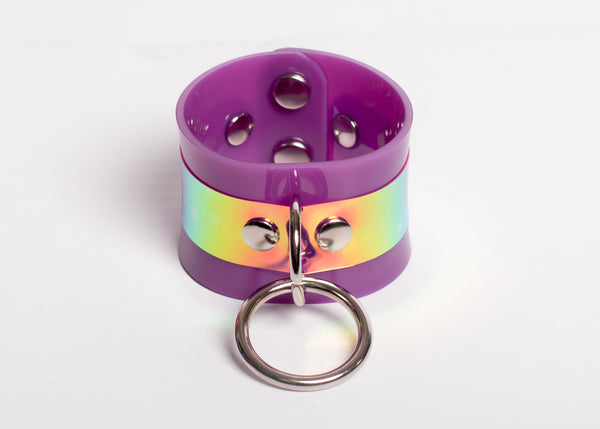 Purple Holographic O-Ring Cuff Bracelet