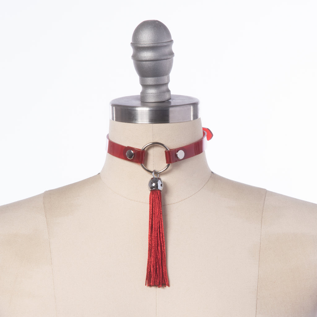 Red Tassel Collar Choker