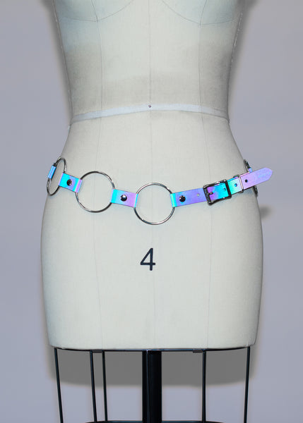 Reflective Rainbow Linked O-Ring Belt