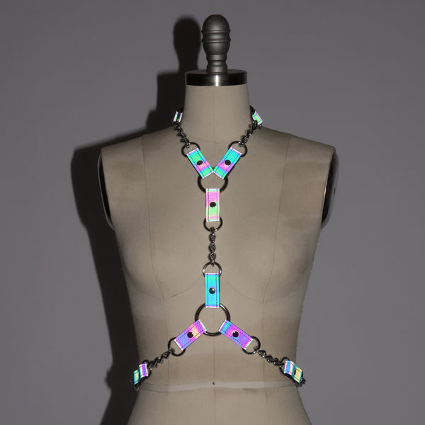 Reflective Rainbow Industrial Chained Harness