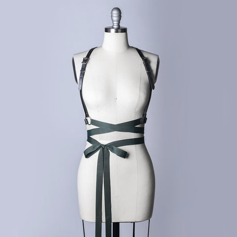 Samantha Rei x Apatico Leather Ribbon Wrap Harness