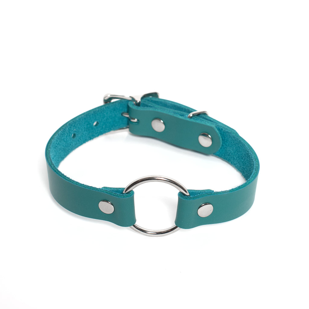 Colorful Leather Oh Choker Collar