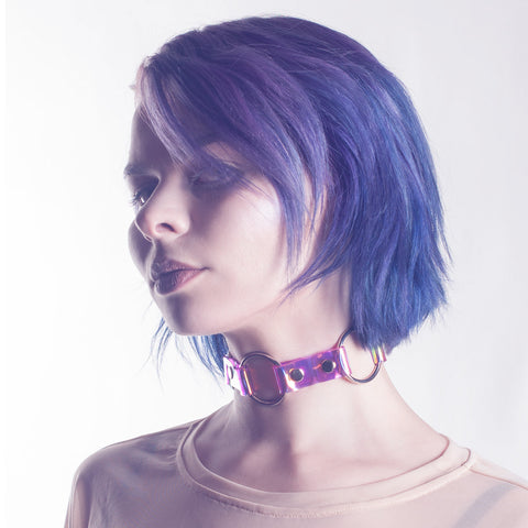 Rule Of Three Holographic Choker Collar
