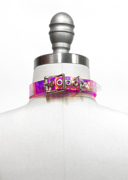 HOLOGRAPHIC OH MY CHOKER COLLAR - APATICO - 4