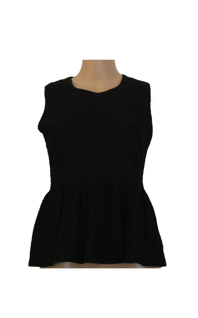Black Laced Structured Top [Size L] - VOWS Malaysia