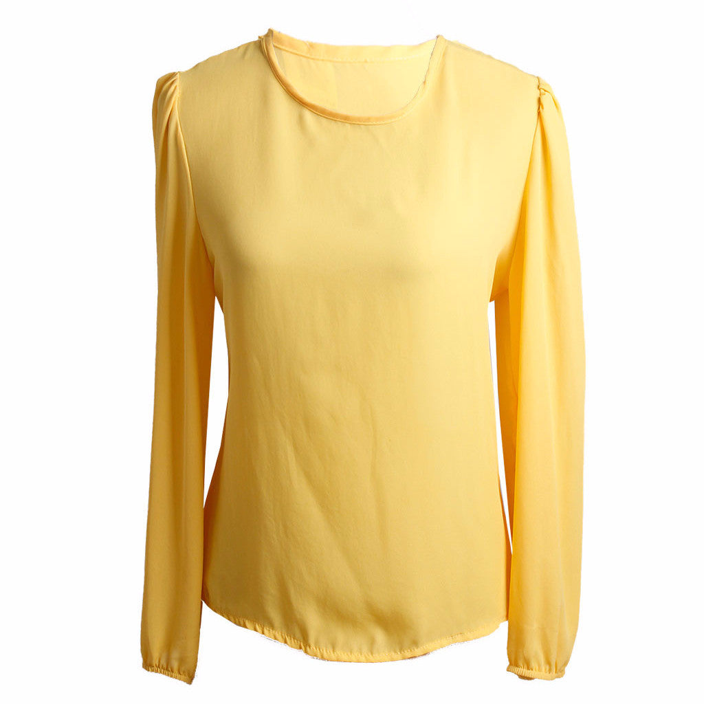 MISC Yellow Long-Sleeved Blouse Size [S]