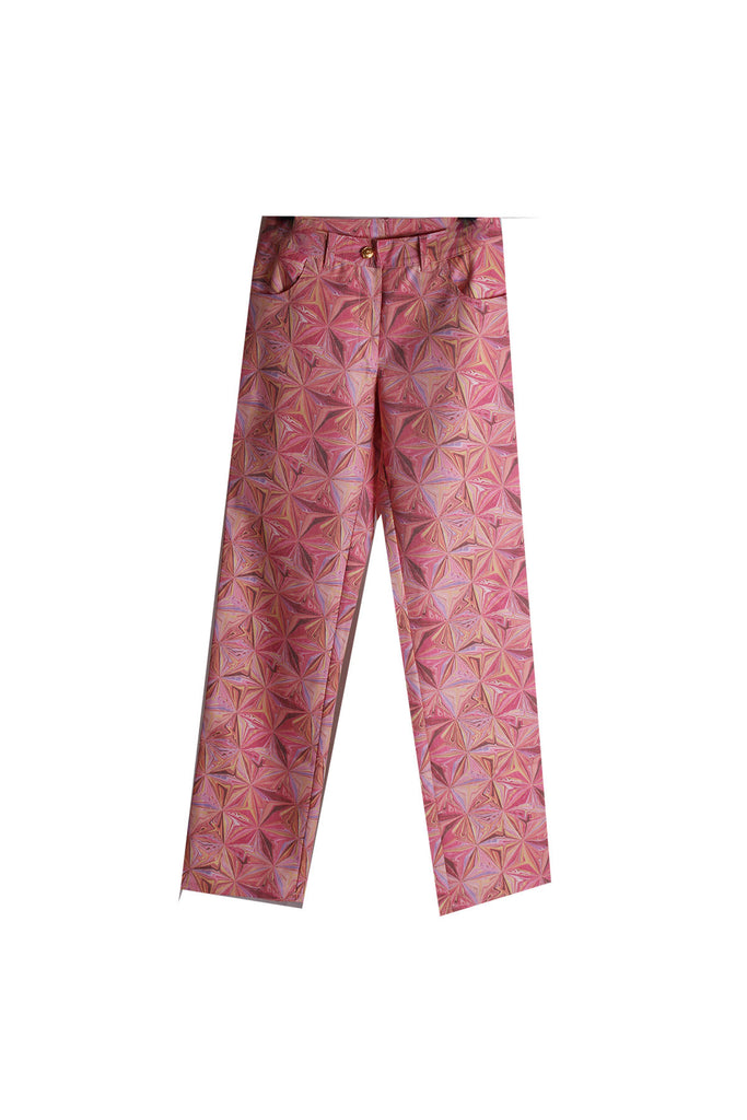 MISC Pink Pants with Abstract Prints Size [S]