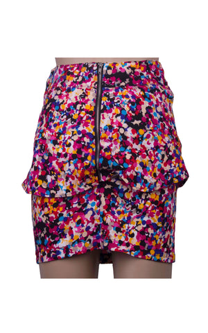 Abstract Pink Mini Skirt [Size S]
