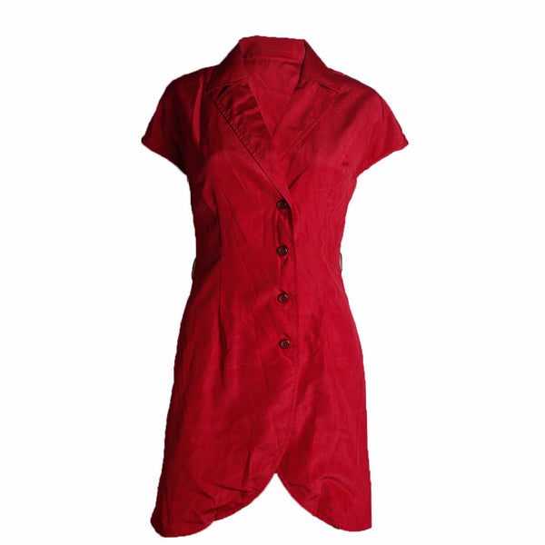 Communique Red Shirt Dress [S] - VOWS Malaysia